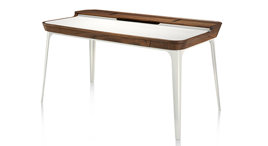 AIRIA DESK & MEDIA CABINET BY HERMAN MILLER